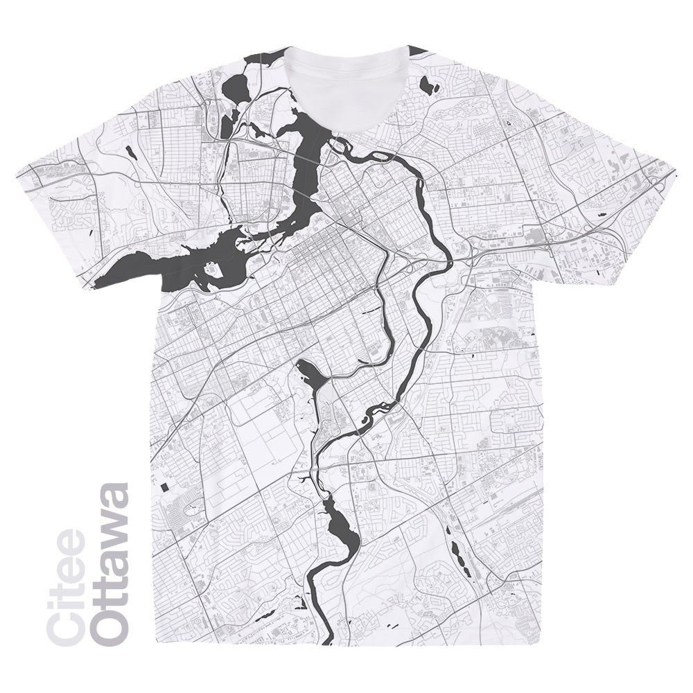 Image of Ottawa map t-shirt