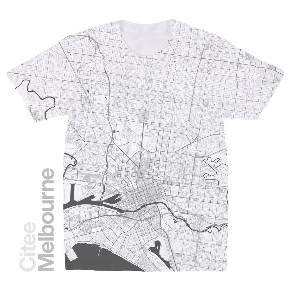 Shirt design melbourne - Image Of Melbourne Map T Shirt