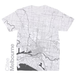 Image of Melbourne map t-shirt