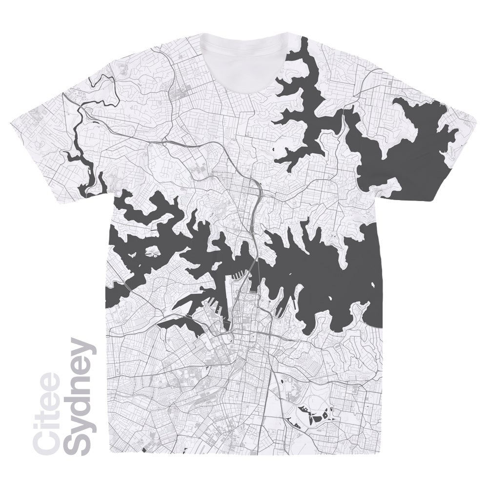 Image of Sydney map t-shirt