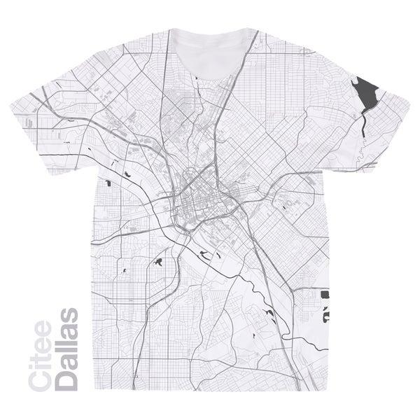 Image of Dallas TX map t-shirt