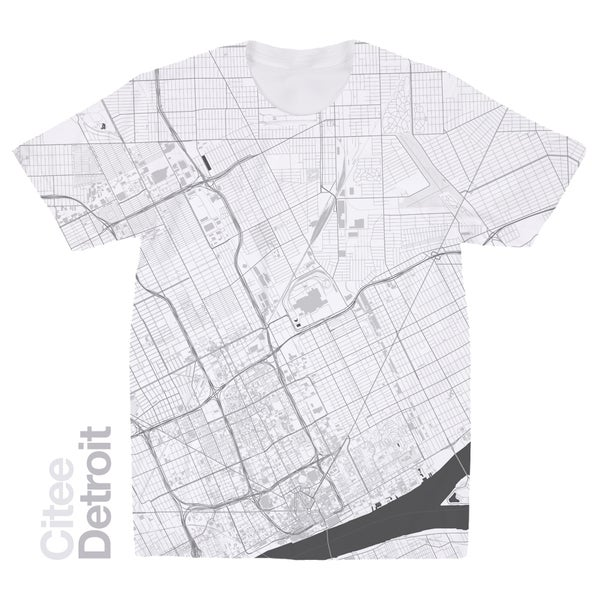 Image of Detroit MI map t-shirt