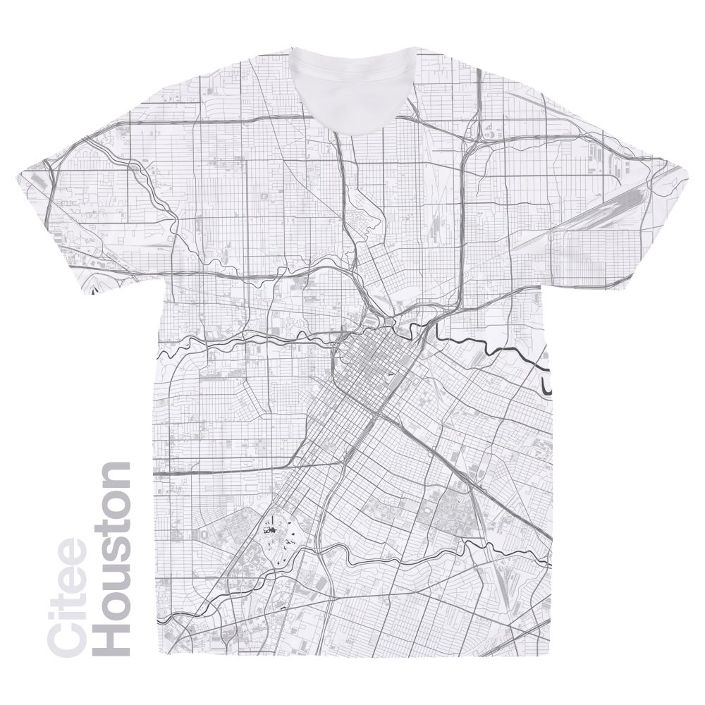 Citee Fashion Houston TX Map Tshirt - Tx map