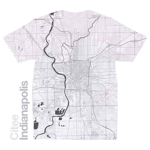 Image of Indianapolis IN map t-shirt