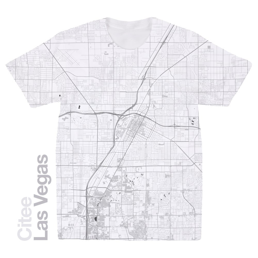 Citee Fashion Las Vegas NV Map Tshirt - Las vegas map nevada