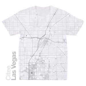 Image of Las Vegas NV map t-shirt
