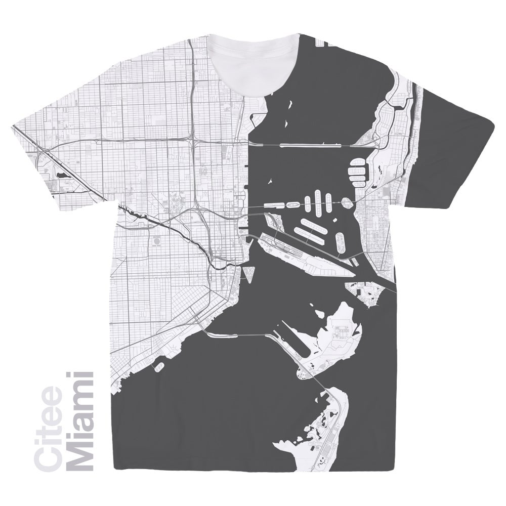 Image of Miami FL map t-shirt