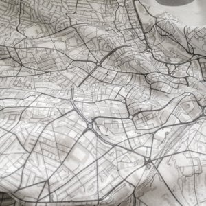 Image of New Orleans LA map t-shirt