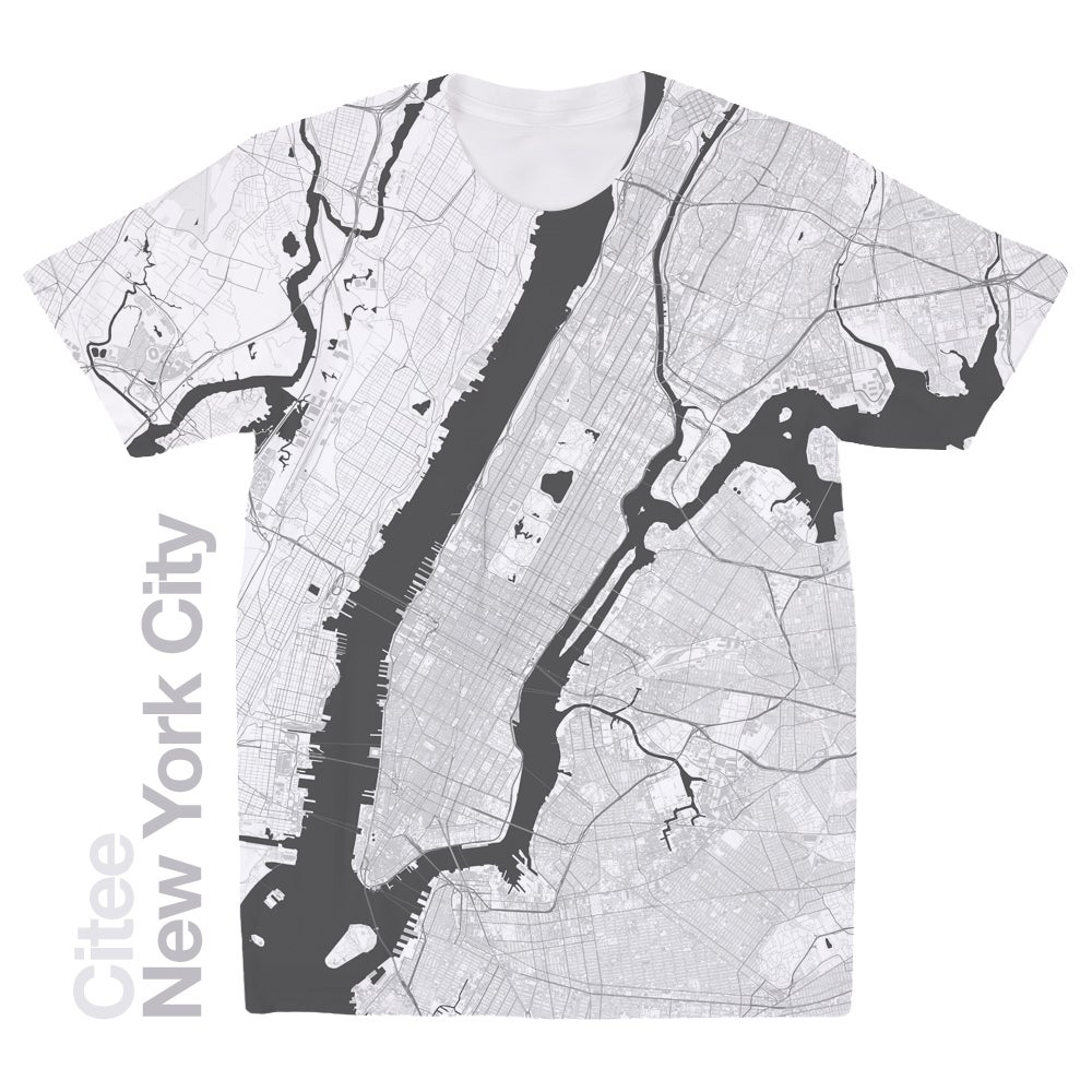 Image of New York City map t-shirt