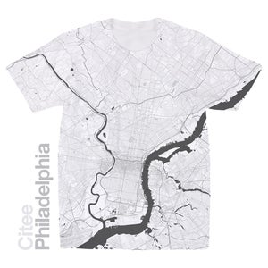 Image of Philadelphia PA map t-shirt