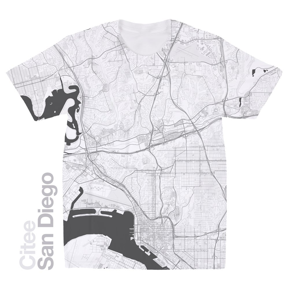 Citee Fashion  San Diego CA map tshirt
