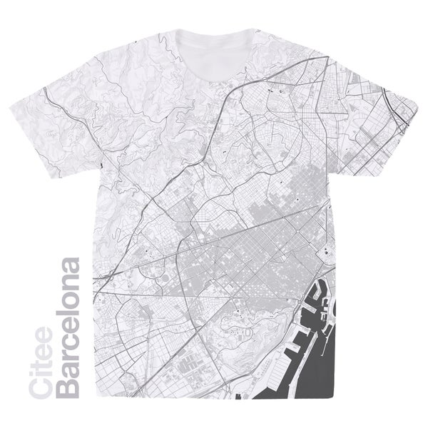 Image of Barcelona map t-shirt