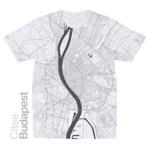 Image of Budapest map t-shirt