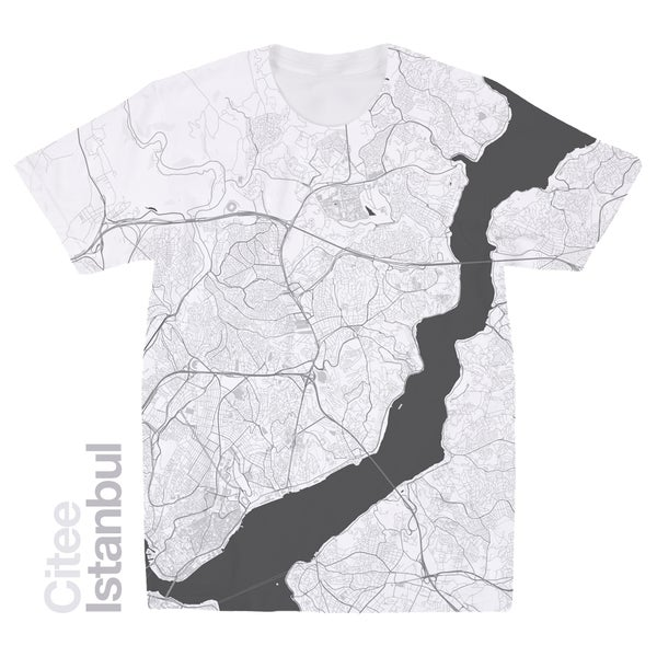 Image of Istanbul map t-shirt