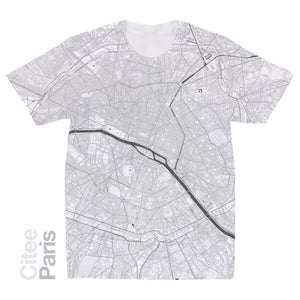 Image of Paris map t-shirt