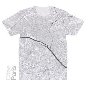 Image of Paris map t-shirt