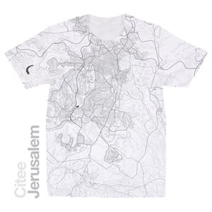 Image of Jerusalem map t-shirt