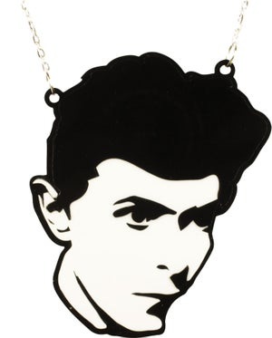 David Bowie Heroes Necklace  - Black Heart Creatives
