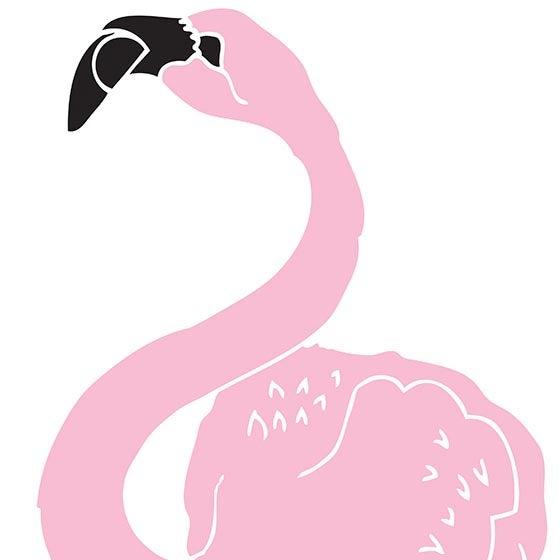 Image of Big Flamingo screen print