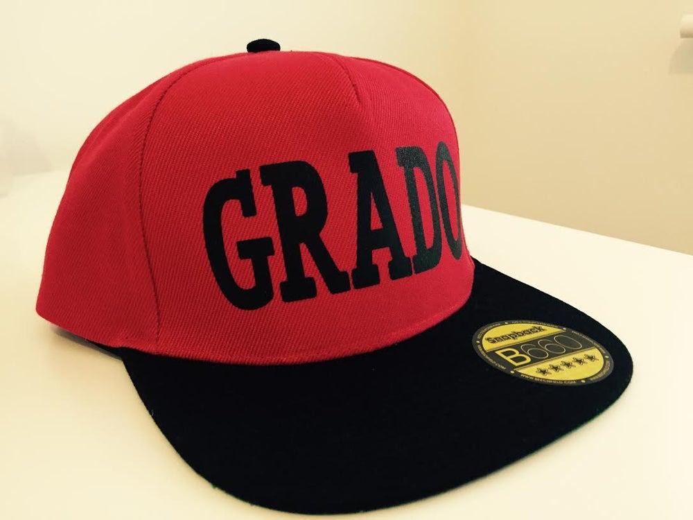 Image of GRADO Snapback Cap (Black and Red)