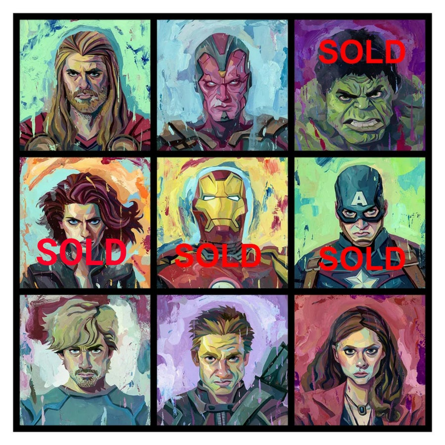 Image of Avengers Original Paintings