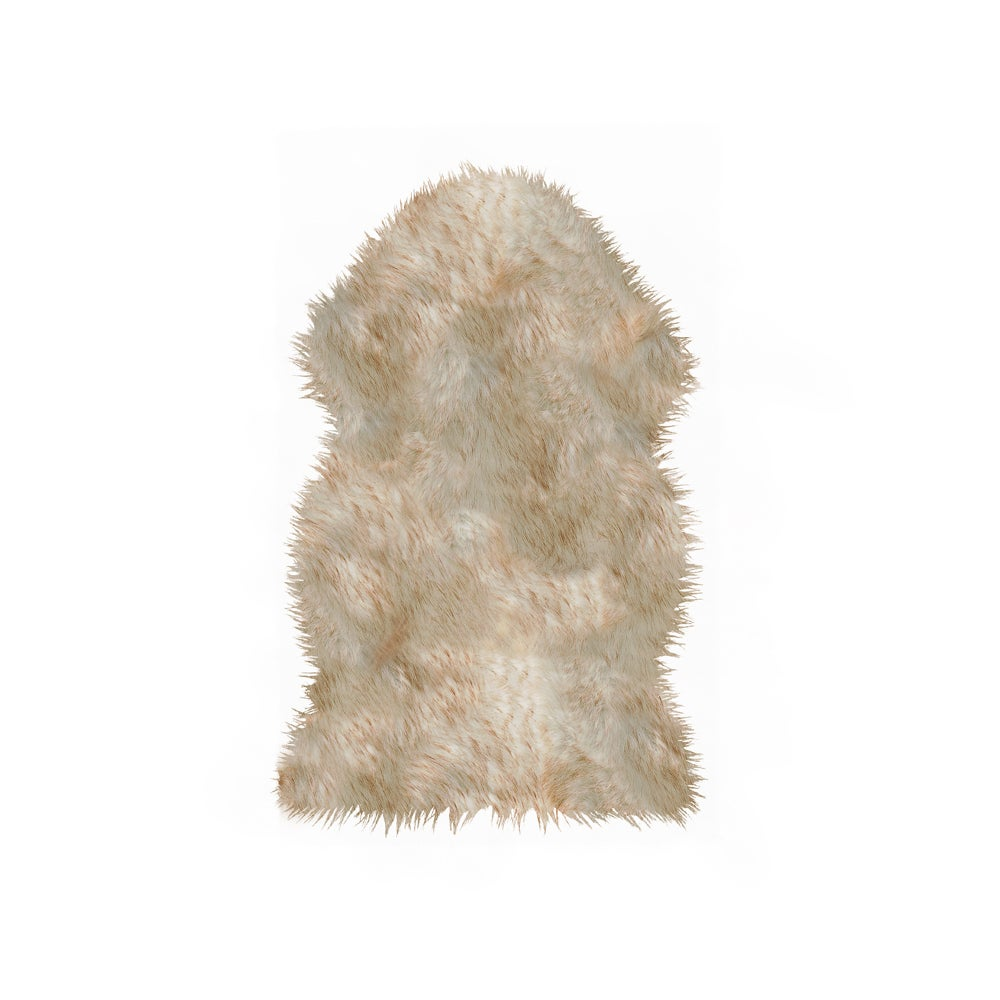 Image of Gordon Gradient Brown Faux Sheepskin
