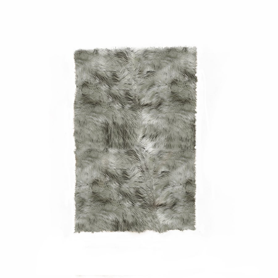 Image of Hudson Gradient Gray Faux Sheepskin