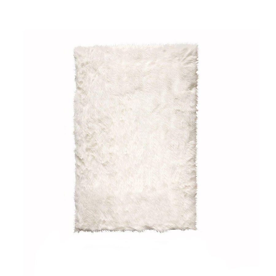 Image of Hudson Offwhite Faux Sheepskin