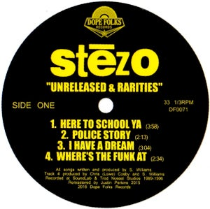 """Image of STEZO """"UNRELEASED & RARITIES"""" ***SOLD OUT***"""