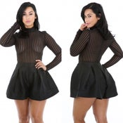 Image of Kim K Pin Stripped Romper