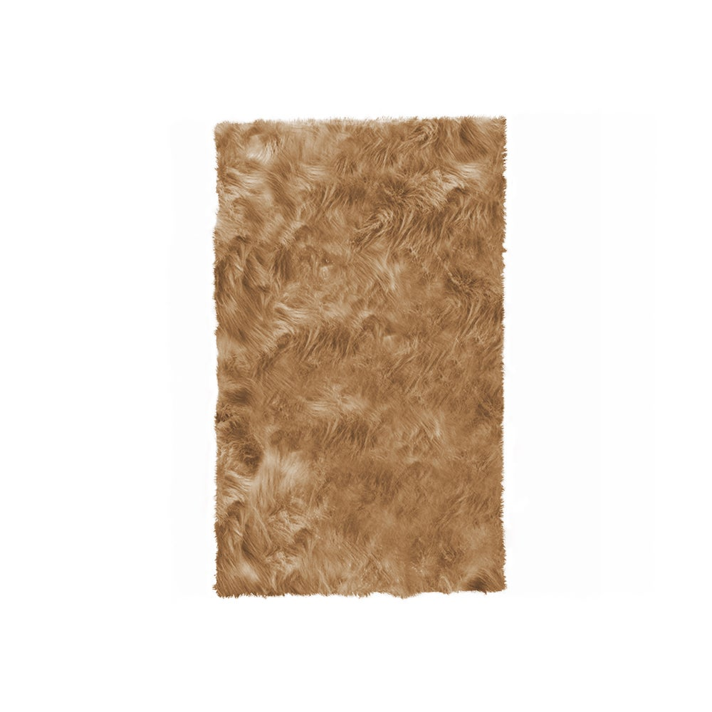 Image of Hudson Tan Faux Sheepskin