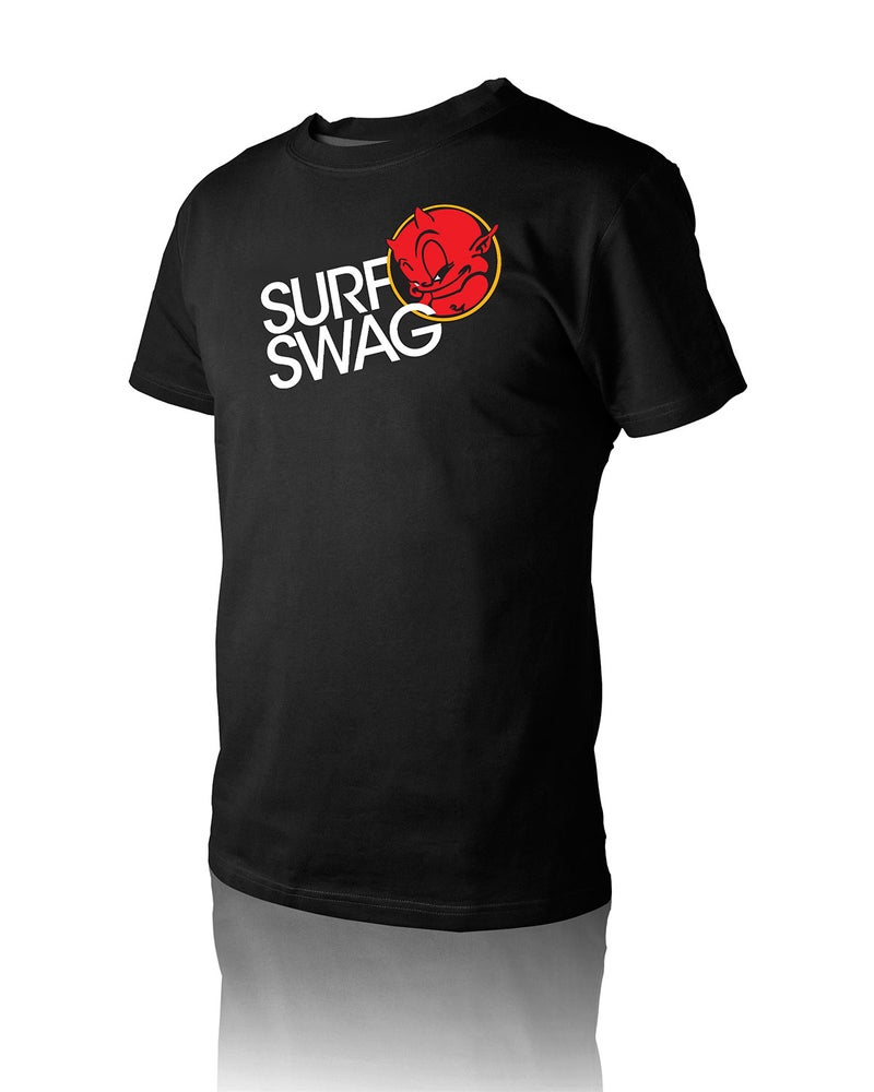 "Image of Men's ""Surf Swag"" T-Shirt Black"