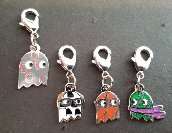 Image of 4 Pack Band Member Ghost Zipper Pulls (Special Price)