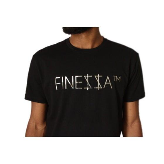 "Image of ""FINE$$A™"" Tee (Black/Silver Chrome)"