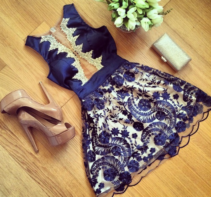 Image of HOT LACE SHOW BODY CUTE DRESS