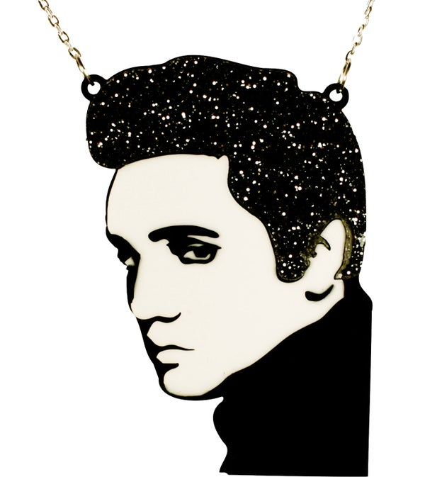 Elvis Necklace  - Black Heart Creatives