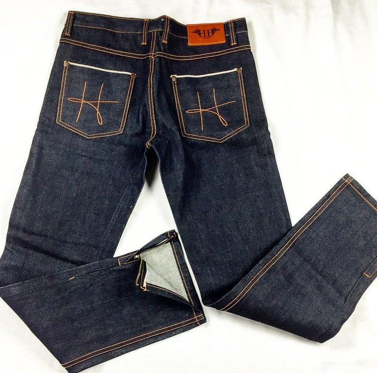 Image of HotBread signature H raw denim jeans