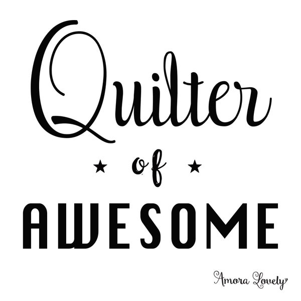 Image of Quilter of Awesome Sticker Set of 4