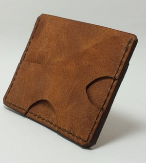 Image of Two Pocket Minimalist Front Pocket Carry Leather Wallet