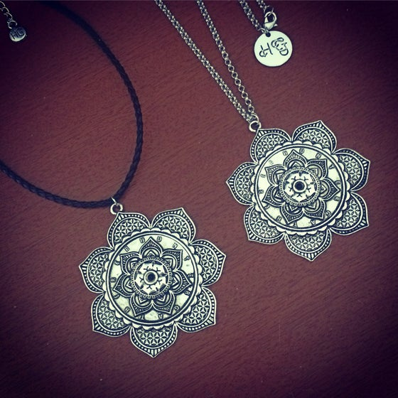 Image of New HG statement mandala necklace & choker