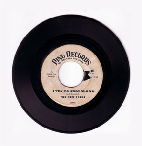 "Image of  ""I Try to Sing Along""  - - 2 Song CD Single - - Ping Records #17241."