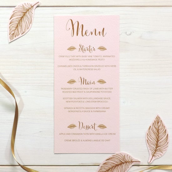 Image of Tickled Pink Menu