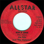 "Image of 7"" The Valiants (& Jim Friis) : Serpents & Spiders/Bop A Lena."
