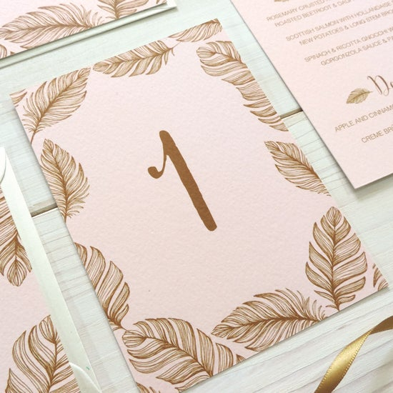 Image of Tickled Pink Table Number