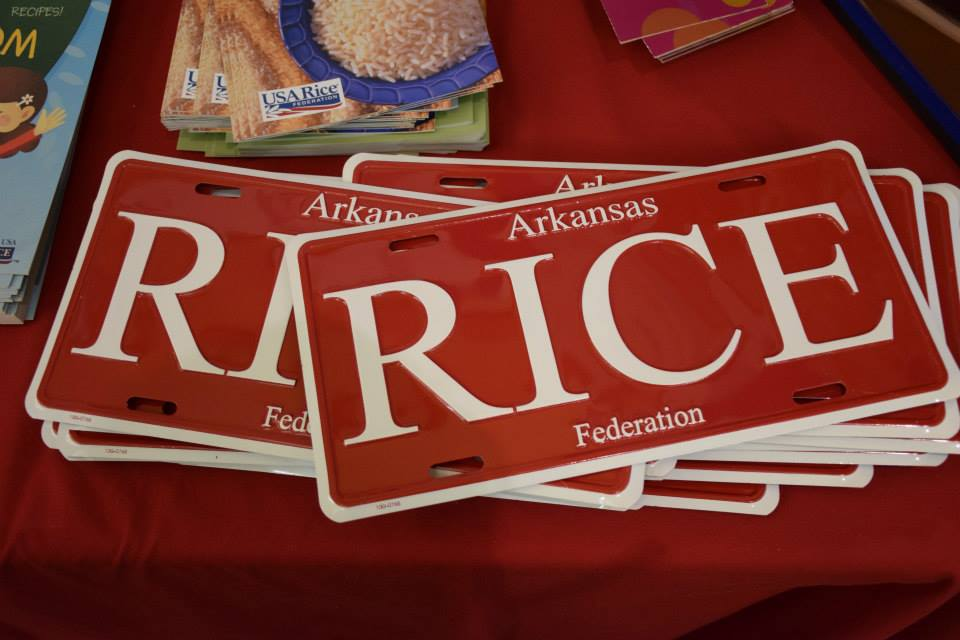 Image of Arkansas RICE License Plate - RED