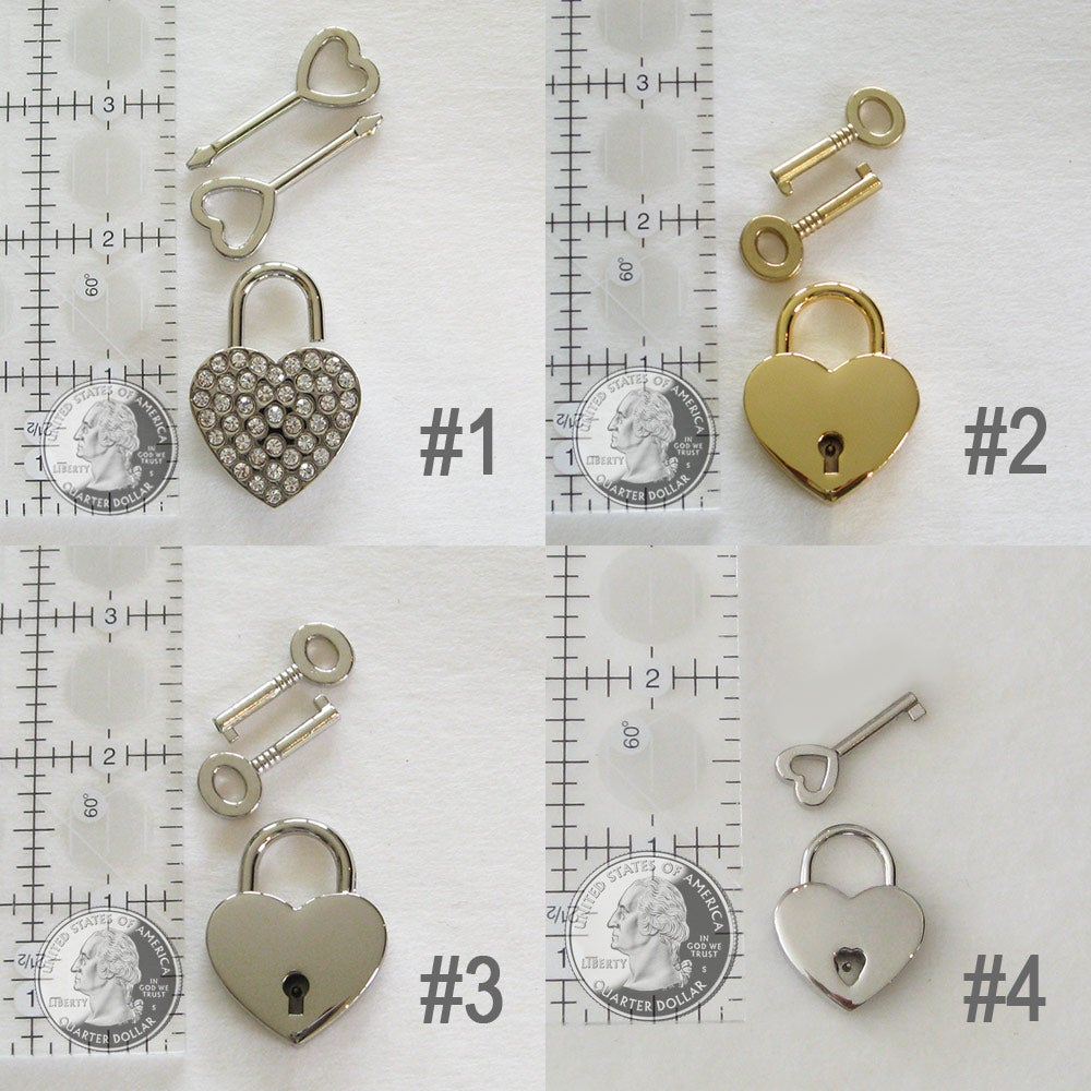 Image of Replacement Lock & Key Sets for Handbags, Purses & Bags - Gold, Silver, Bling & More - Accessory