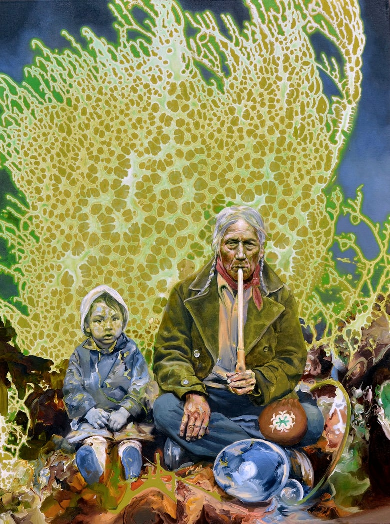 "Image of ""Sitting With Grandfather"" Giclée Print"