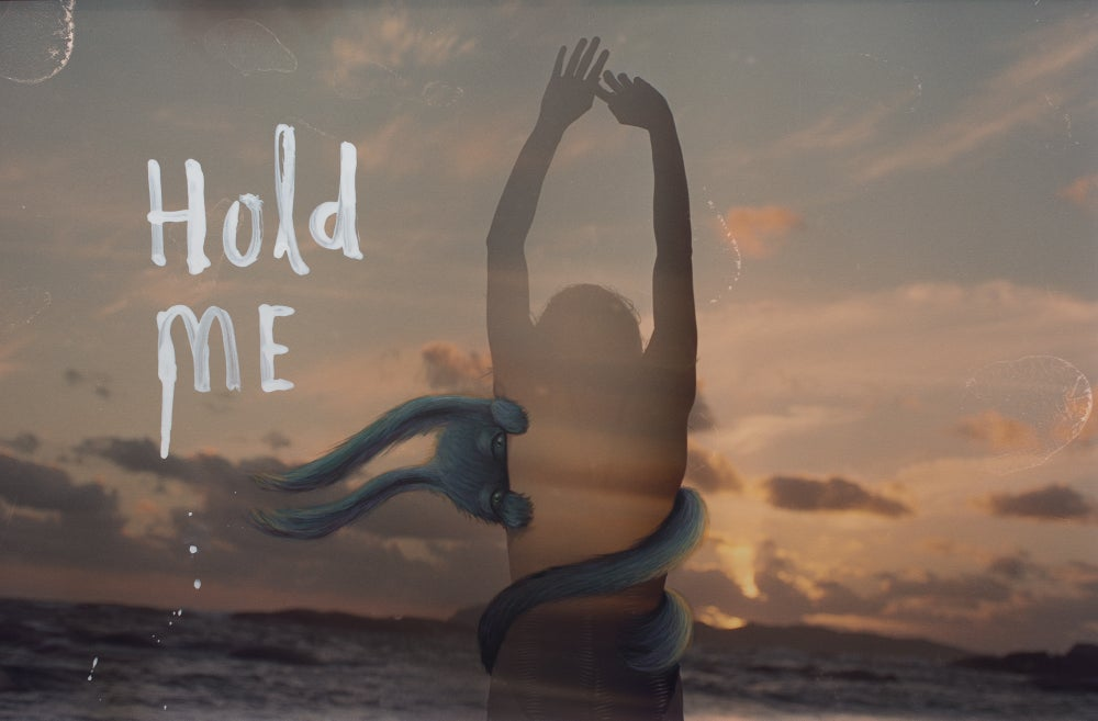 Image of limited edition 'hold me' print