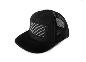 "Image of ""SpeedCorps"" Trucker Hat, Black (P1B-T0512)"