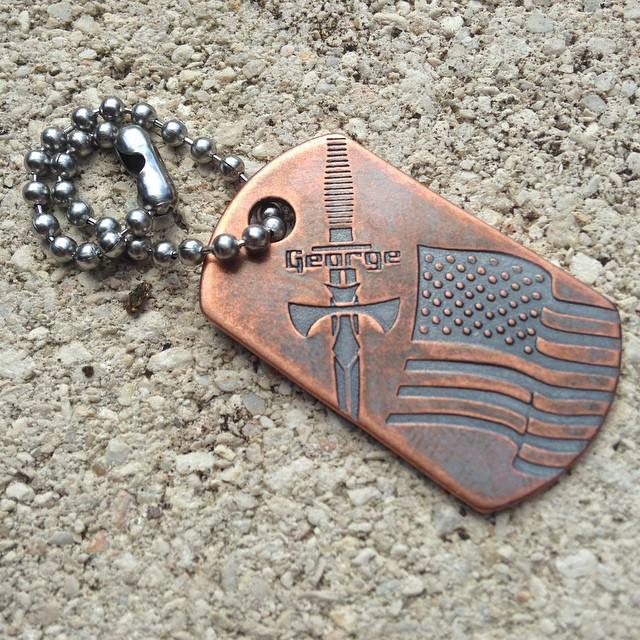 Image of Steel Flame / George Knives Dog Tag